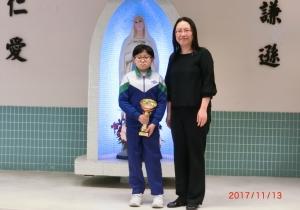正德館 香港空手道大賽 2017  女童個人組手 (8-9歲中級組)  冠軍
